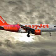 Easyjet Tartan Livery Airbus A319-111 Art Print