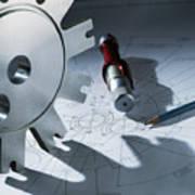 Engineering Equipment Print by Tek Image