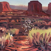 Evening In Monument Valley Art Print