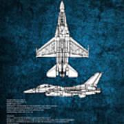 F16 Fighting Falcon Art Print
