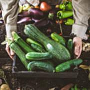 Farmer With Vegetables Art Print