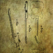 Fender Guitar Patent From 1951 Art Print