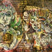 3 Figures Art Print
