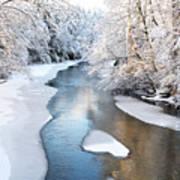 Fresh Snowfall Gauley River Art Print