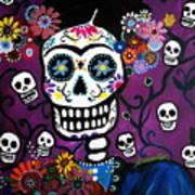 Frida Dia De Los Muertos Art Print