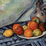 Fruit And A Jug On A Table Art Print