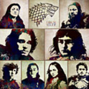 Game Of Thrones. House Stark. Art Print