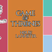 Game Of Thrones. Lannister. Art Print