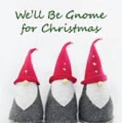 Christmas Gnomes Art Print