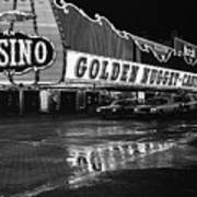 Golden Nugget Casino At Night In The Rain Las Vegas Nevada 1979 Art Print