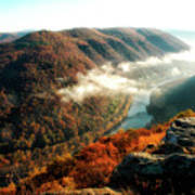 Grandview New River Gorge Art Print