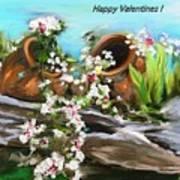 Happy Valentines  Art Print