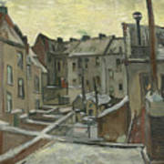 Houses Seen From The Back Art Print