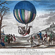 Hydrogen Balloon, 1783 Art Print