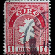 Irish Postage Stamp Art Print