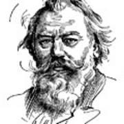 Johannes Brahms 1833-1897 Art Print