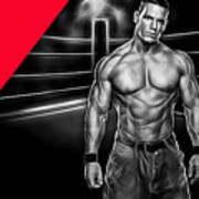 John Cena Wrestling Collection Art Print