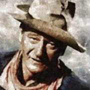 John Wayne Hollywood Actor Art Print