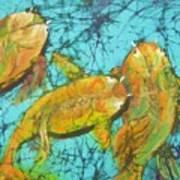 3 Koi Art Print
