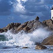Lighthouse On The Coast, Pontusval Art Print