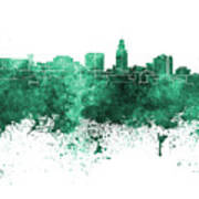 Lincoln Skyline In Watercolor Background Art Print
