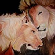 Lion's Love Art Print