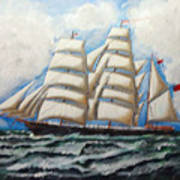 3 Master Tall Ship Art Print