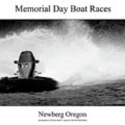 Memorial Day Boat Races Art Print