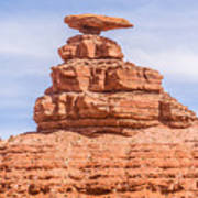 Mexican Hat Rock Monument Landscape On Sunny Day Art Print