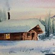 Montana Winter Art Print