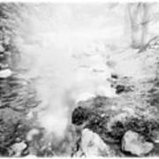 Mountain Stream In Summer Mist Art Print