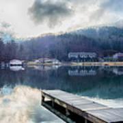 Nature Around Lake Lure Chimney Rock And Broad River North Carol Art Print