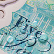 New Uk Five Pound Note Art Print