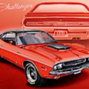 Dodge Challenger 1970 R/t Art Print