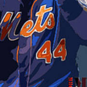 New York Mets Baseball Team And New Typography Art Print