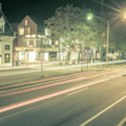 Newport Rhode Island City Streets In The Evening Art Print