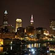 Nightlife In Cleveland Art Print