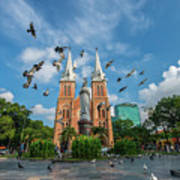 Notre-dame Cathedral Basilica Of Saigon, Officially Cathedral Basilica Of Our Lady Of The Immaculate Art Print