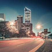 November, 2017, Charlotte, Nc, Usa - Early Morning In The City O Art Print