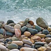 Ocean Stones Art Print by Stelios Kleanthous