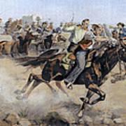 Oklahoma Land Rush, 1889 Art Print