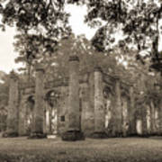 Old Sheldon Church Ruins Art Print