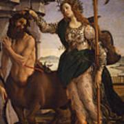 Pallas And The Centaur Art Print