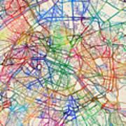 paris france street map poster
