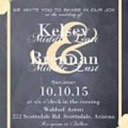 Personalized Wedding Invitation Art Print