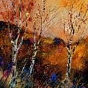3 Poplars Art Print