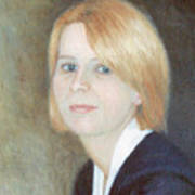 Portrait Of Young Woman Art Print