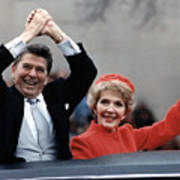 President Ronald Reagan And First Lady Art Print