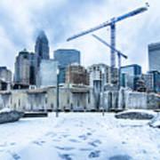 Rare Winter Weather In Charlotte North Carolina Art Print