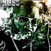 Rick Ross Print by The DigArtisT